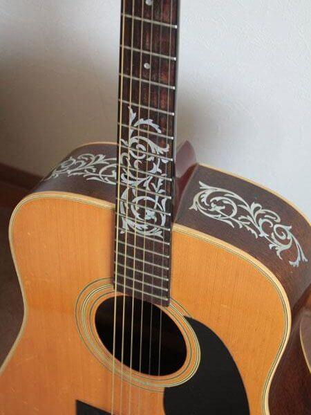 Орнамент на ладах гитары