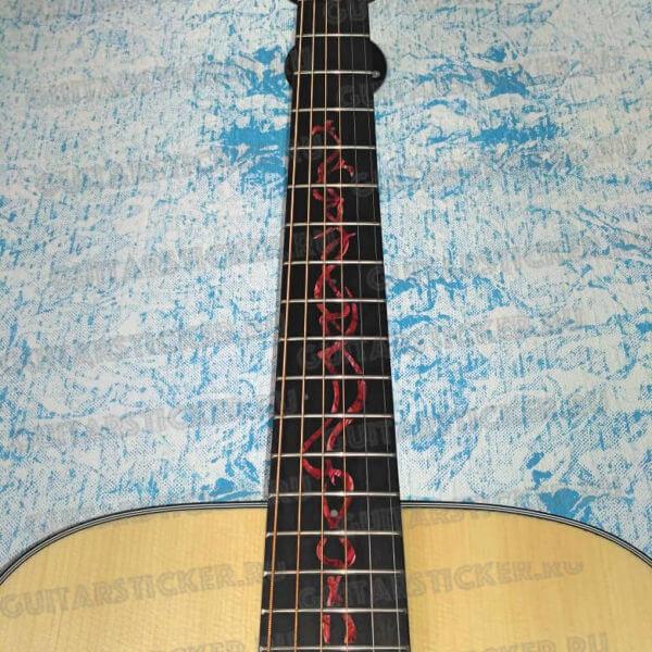 Купить виниловые инлей стикеры на гитару гриф