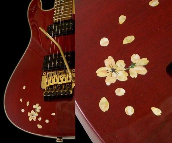 Купить виниловые наклейки сакура для гитары