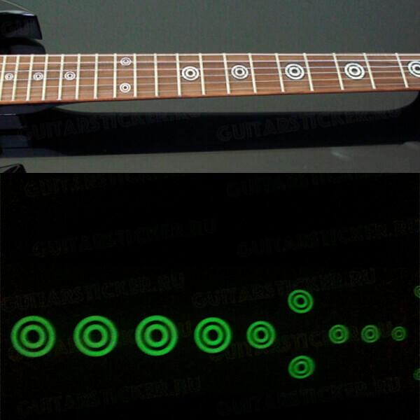 Светящиеся наклейки на гитару