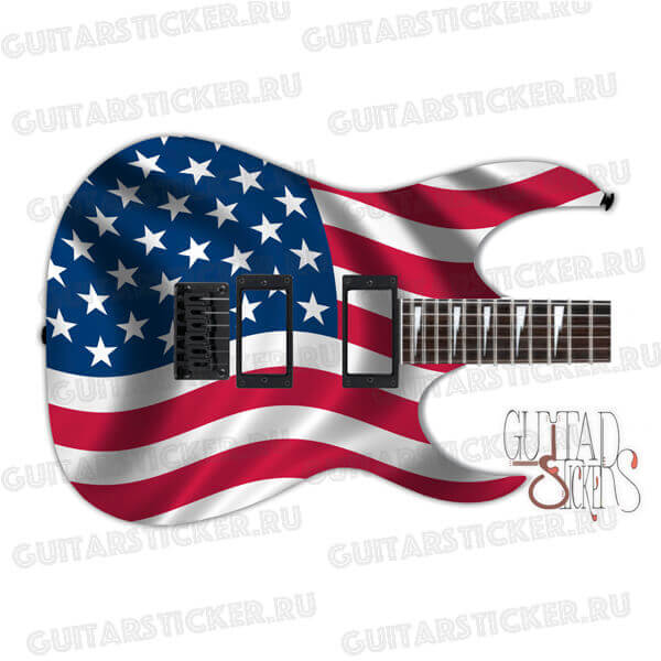 Флаг америки на гитару на всю деку