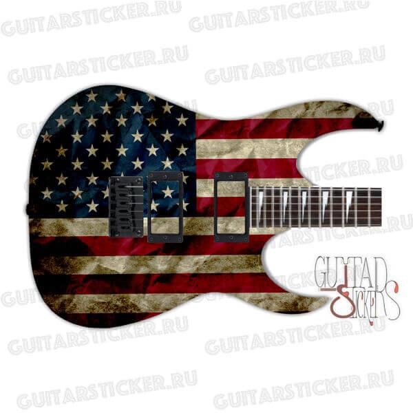 Наклейки с флагом США на деку гитары
