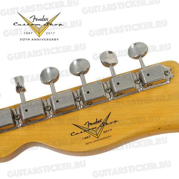 Наклейки на голову грифа Fender custom shop