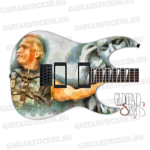 Гитарный скин на деку гитары Тилль Линдеманн