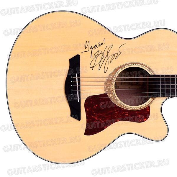 Купить подписи для гитары