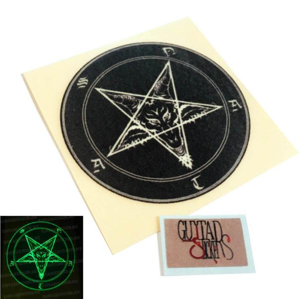 Светящаяся наклейка в виде пентаграммы