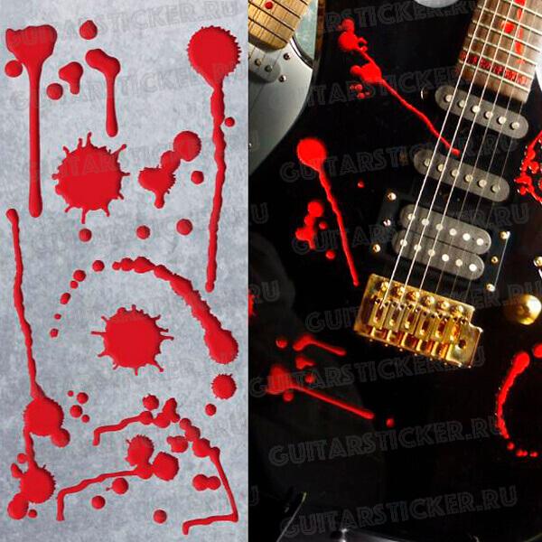 Купить наклейки кровяные потеки для гитары