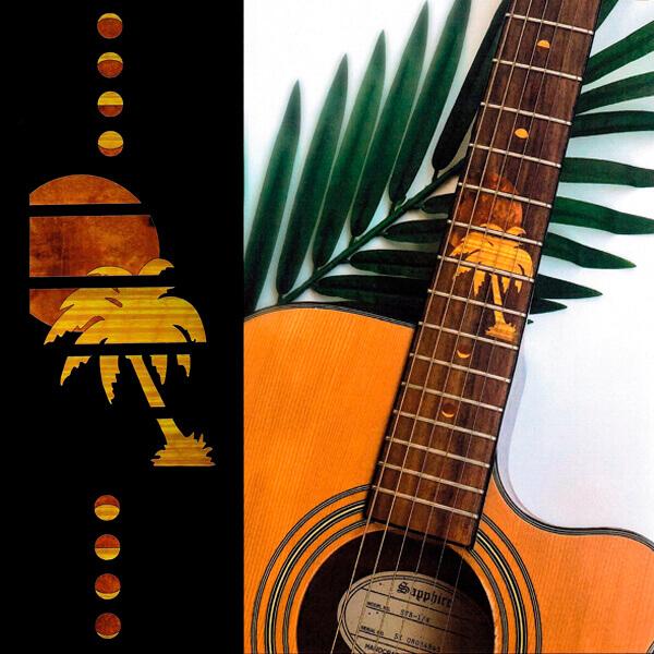 Комплект наклеек для гитары в стиле гаваи