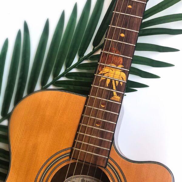 Как смотрится комплект наклеек на акустической гитаре