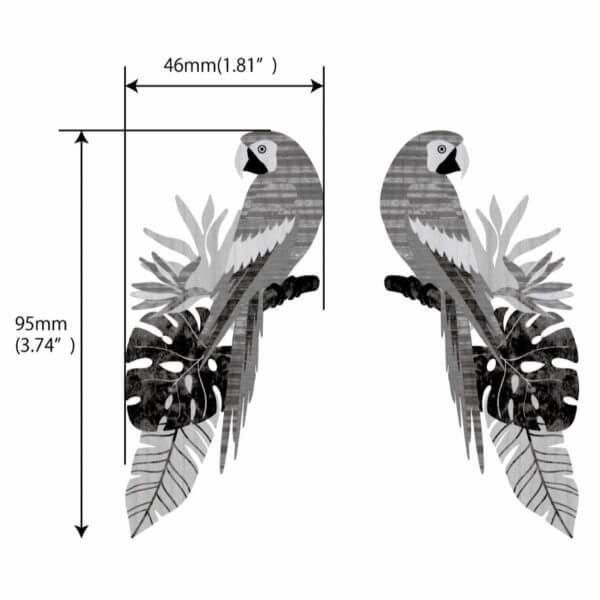 Виниловая наклейка попугай