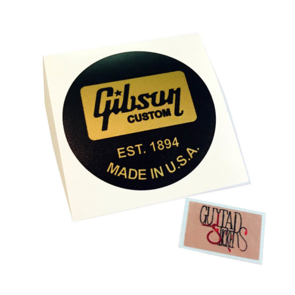 Круглая наклейка на крышку свитча гибсона